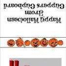 Sucker  Lollipop  Wrapper Halloween 04 ~ Set of 12