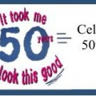 Water Bottle Wrapper 50th Birthday 01 ~ Set of 12