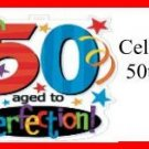 Water Bottle Wrapper 50th Birthday 02 ~ Set of 12