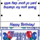 Sucker Lollipop Wrapper Happy Birthday 02 ~ Set of 12