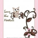 Save the HootersBreast Cancer Candy Bar Wrapper