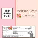 Birth Announcement & Shower Candy Bar Wrapper