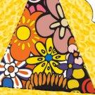 Pie Wedge 2 Piece Box Hippie Flower Retro Floral