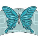 Aqua Butterfly Cupcake Paper Wrappers ~ Set of 12