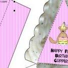 Pie Wedge 2 Piece Box 1st Birthday