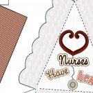 Pie Wedge 2 Piece Box Nurses Have Heart
