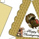 Pie Wedge 2 Piece Box Happy Thanksgiving