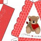 Pie Wedge 2 Piece Box Valentine's Day Bear