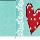 Cupcake Box Valentine's Day Aqua Love 03 ~ 1 Dozen