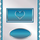 Valentine's Day Aqua & Silver Candy Bar Wrapper 10 ~ Set of 1 Dozen