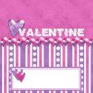 Valentine's Day Purple & Pink Candy Bar Wrapper 02 ~ Set of 1 Dozen
