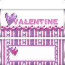 Valentine's Day Purple & Pink Candy Bar Wrapper 04 ~ Set of 1 Dozen