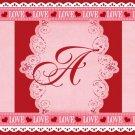 Valentine's Day MINI Candy Bar Wrapper Letters A ~ Z ~ 1 Dozen