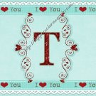 Valentine's Day MINI Candy Bar Wrapper  Letters A ~ Z