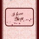 Valentine's Day MINI Candy Bar Wrapper  I Love you ~ 1 Dozen