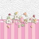 Valentine's Day MINI Candy Bar Wrapper Pink Floral  ~ 1 Dozen