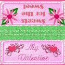 Valentine's Day Treat Bag Topper ~ Sweets for the Sweet