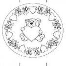 Valentine's Day Pencil or Straw Slider Color Me Bear