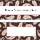 Valentine's Day Candy Bar Wrapper Brown Paisley