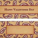 Valentine's Day Candy Bar Wrapper Caramel Paisley