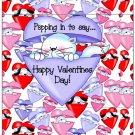 Valentine's Day Popcorn Wrapper Humor.... Poppin' In To Say Cat ~ 1 Dozen