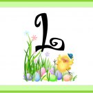 Easter MINI Candy Bar Wrapper Letters A~Z