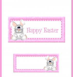 Easter Candy Bar Wrap ~ Personalize it! ~ Set of 1 Dozen