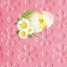 Easter MINI Candy Bar Wrapper Eggs ~Pink Chick Daisies  ~ 1 Dozen