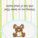 Easter  Treat Bag Topper ~ Bunny in Blue