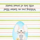 Easter  Treat Bag Topper ~ Bunny in Blue Egg