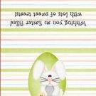 Easter Treat Bag Topper ~ Bunny in Green Egg