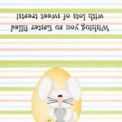 Easter Treat Bag Topper ~ Bunny in Peach Egg