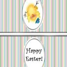 Easter Treat Bag Topper ~ Stripe Chick