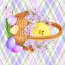 Easter MINI Candy Bar Wrapper Eggs ~ Plaid Chick in a Basket  ~ 1 Dozen