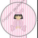 Easter Pencil or Straw Slider ~ Baby Girl Bunny ~ 3 Dozen Set