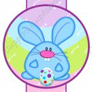 Easter Pencil or Straw Slider ~ Pastel Blue Bunny ~ 3 Dozen Set