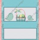 Easter Candy Bar Wrap ~ Chicks Aqua Background