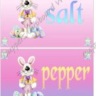 Salt & Pepper Wrappers 1 Dozen ~ Easter Bunny Pink