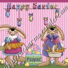 Salt & Pepper Wrappers ~ Easter Bunny Pair Pink