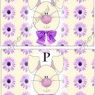 Salt & Pepper Wrappers ~ Easter Bunny Purple Flower