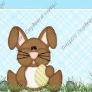Easter MINI Candy Bar Wrapper Eggs ~ Easter Bunny Aqua  ~ 1 Dozen