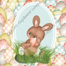 Easter MINI Candy Bar Wrapper Eggs ~ Easter Bunny with Egg Background  ~ 1 Dozen