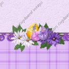 Easter MINI Candy Bar Wrapper Eggs ~ Easter Floral Purple Plaid   ~ 1 Dozen