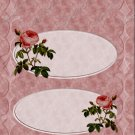 Mother's Day Kiss & Treat Bag Toppers~ Pink Roses
