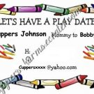 Mommy & Daddy Play Date Calling Cards ~ Crayons ~ Set of 30 Cards