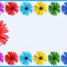 Mommy & Daddy Play Date Calling Cards ~ Daisy Aqua  Border ~ Set of 30 Cards