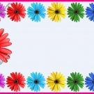 Mommy & Daddy Play Date Calling Cards ~ Daisy Pink  Border ~ Set of 30 Cards