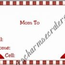 Mommy & Daddy Play Date Calling Cards ~ Red High Heels ~ Set of 30 Cards
