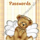 "Computer Password Book 4"" X 6"" Size Angel Bear Theme"
