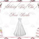 """Give the Bride Advice Book 4"""" X 6"""" Size"""